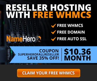 Reseller Hosting NameHero with free WHMCS free domain free auto SSL